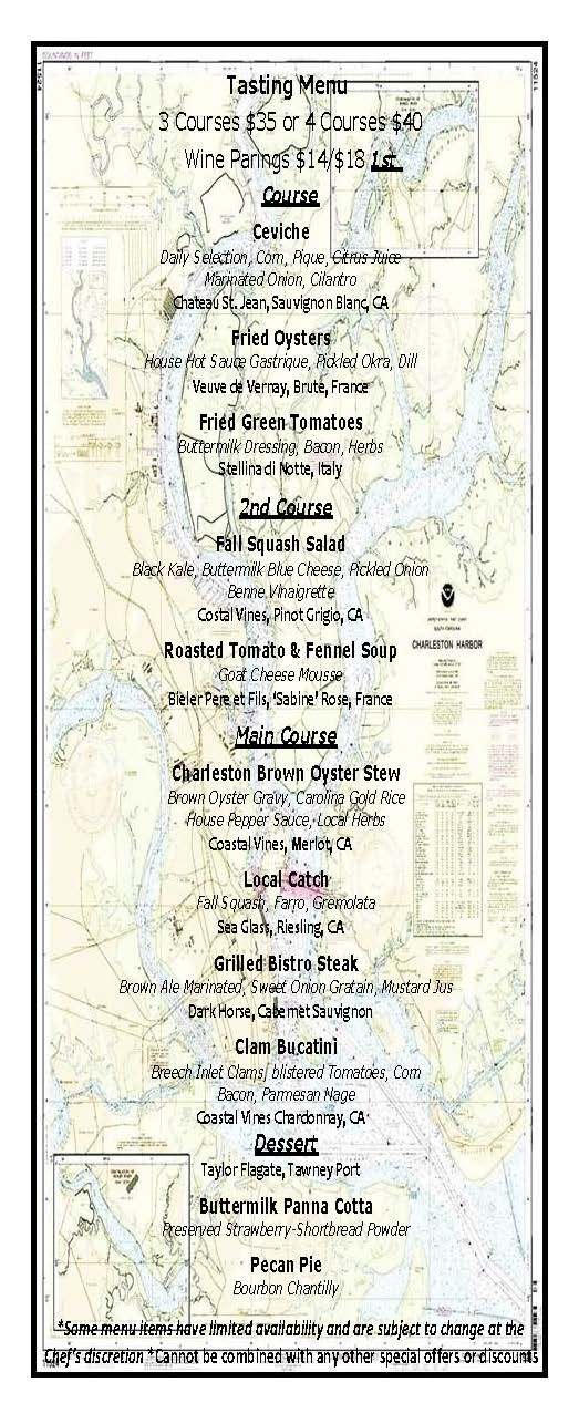 Charleston harbor fish house dinner for The fish house menu